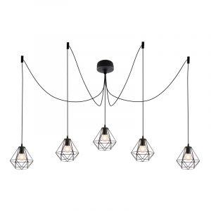 Stoere, industrie 5L spinnenweb 5L spinnenweb hanglamp Jochem, Gaaslook
