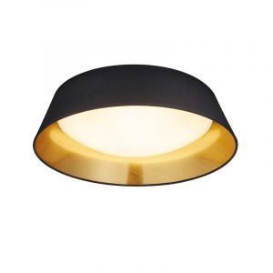 Zwarte plafondlamp Gjern, Stof