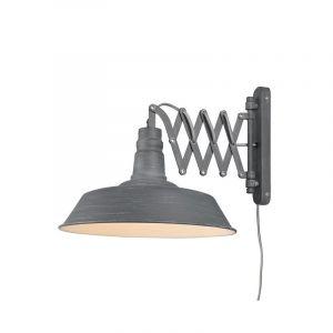 Betonkleurige wandlamp Rox, Modern