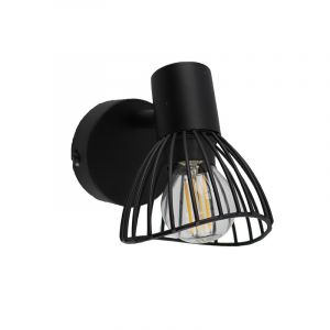 Industriële wandlamp Aina, Zwart