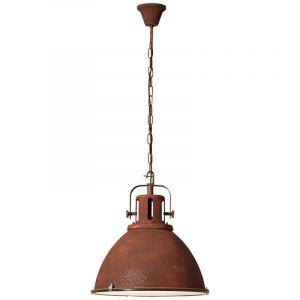 Landelijke hanglamp Alexi, Roestbruin