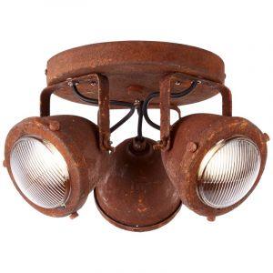 Industriële plafondlamp Liza, Roest