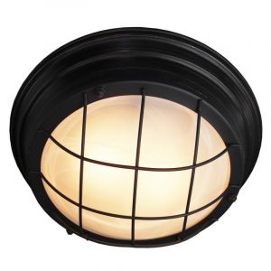 Industriële wandlamp-/plafondlamp Jasmijn, Antiek Zwart