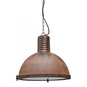 Roestige hanglamp Descon, Industrieel