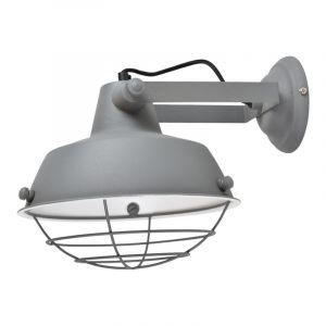 Grijze, industriële wandlamp Fenris