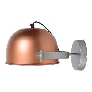 Koperen, industriële wandlamp Feriz