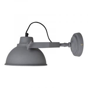Grijze, industriële wandlamp Ferrian
