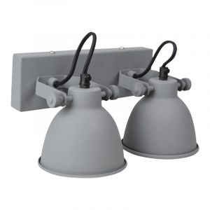 Grijze, industriële wandlamp Feymilano