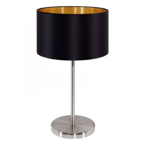 Design Moderne Stoffen Nikkel Zwarte Goud tafellamp Kaelani
