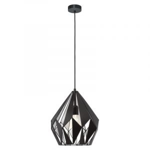 Designlamp Acri Zwart Zilverkleur binnenzijde
