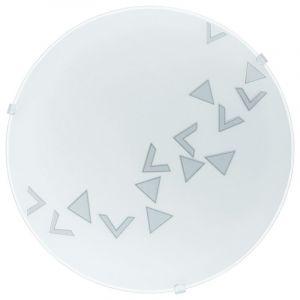 Bada plafondlamp Mat met driehoekige vormen