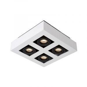 Witte dim to warm plafondspot Xirax, incl. 4x  5w GU10