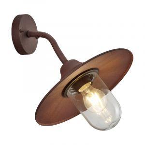 Industriële buitenlamp Verena, Roestkleurig