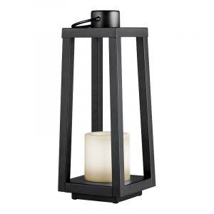 Moderne buitenlamp Suzette, zwart, op zonne-energie
