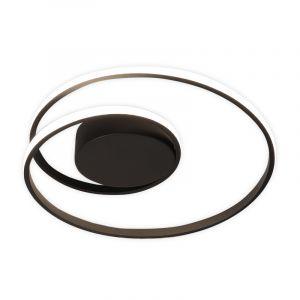 Zwarte plafonniere Sassandra, metaal, modern, 22 watt