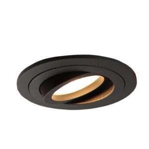 Kantelbare ronde inbouwspot Scott, zwart