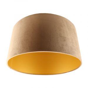 Taupe/gouden velours lampenkap Milene, 40 cm