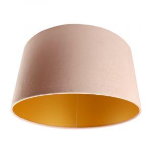 Lichtroze en gouden velours lampenkap Melanie, 50 cm