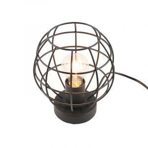 Industriële tafellamp met touchdimmer Jochem Bolvormig