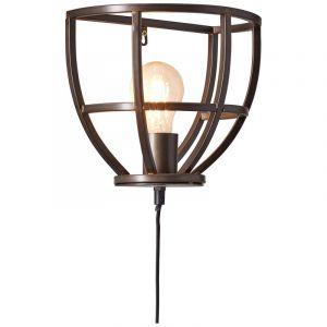Industriële wandlamp Esmee, zwart, met schakelaar