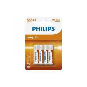 Philips 4x AAA Batterijen