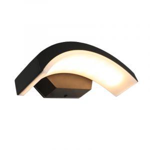 Zwarte buitenlamp Annemay, geïntegreerd LED