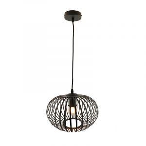 Zwarte hanglamp Lieve, Rond, klein
