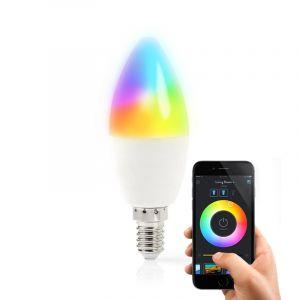 E14 Wifi Smart LED Lamp, alle kleuren en warm wit