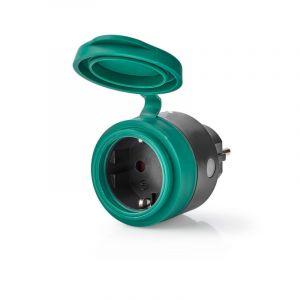 IP44 Outdoor RF Smart Stekker, Schuko Type F, 2300w, met aan/uit knop