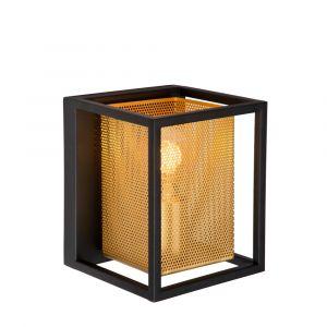 Zwarte wandlamp Sansa, metaal