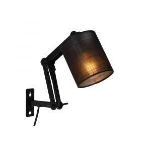 Zwarte wandlamp Tampa, metaal