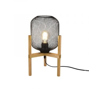 Gaas tafellamp Cristel, zwart, modern