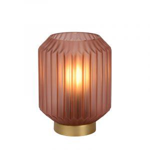 Roze Tafellamp Sueno, glas