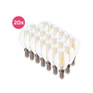 20-pack Dimbare Tekalux Sorna E14 LED lamp, 2700k, 3,5w