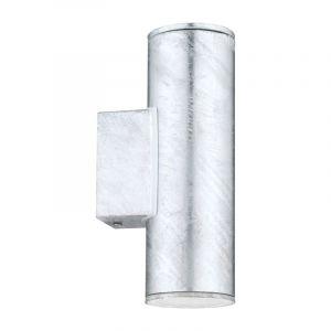 Grijze moderne buitenlamp, Silvian, staal, IP44