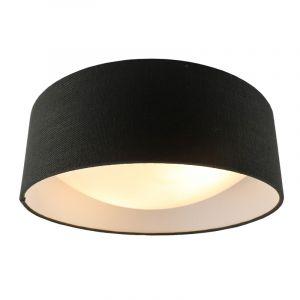 Antraciet Linnen plafondlamp Dewy, 40 cm