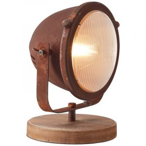 Industriële tafellamp Adie, Roestbruin en Zwart