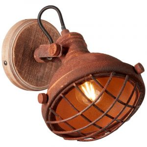 Landelijke wandlamp Aliza, Roestbruin