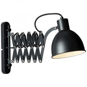 Landelijke wandlamp Tessa, Mat Zwart