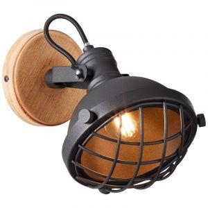 Industriële wandlamp Jinthe, Zwart steen