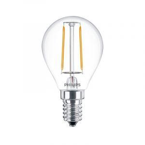 Philips LED filament kogel 2-25W E14 827 P45 helder