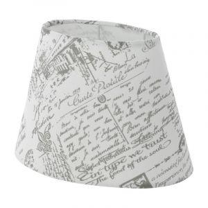 Landelijke lampenkap Noah Textiel Bedrukt Grijs/Wit