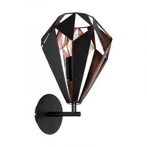 Moderne wandlamp Dylan Staal Zwart/Koper