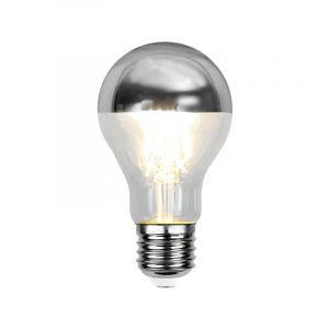 E27 Zilveren kopspiegel LED lamp Malik, standaard formaat, 4 Watt, 2700K (Extra warm wit)