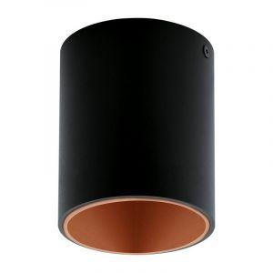 Moderne Zwarte Koper plafonniere Dahlicia