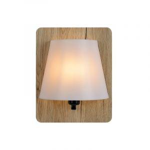 Licht hout wandlamp Idaho, Rechthoek