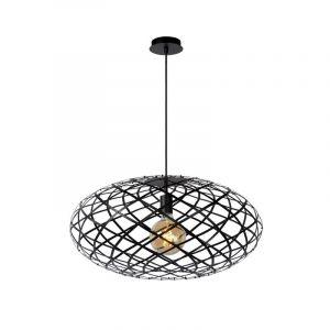 Moderne hanglamp Wolfram, Zwart