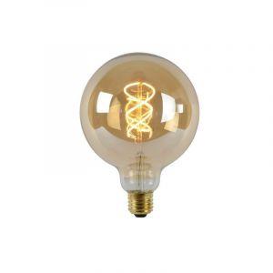 Dimbare E27 LED filament G125 bollamp Extra groot, Extra warm wit, 5 Watt
