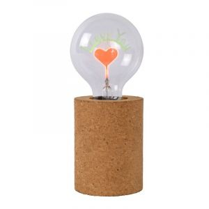 Bruine tafellamp Corky, Cilinder