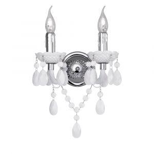 Klassieke, witte wandlamp Feebe